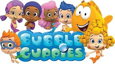 """Bubble Guppies Iron On Transfer 4.25""""x7.5"""" for LIGHT Colored Fabric"""