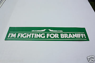 Baggage Label - Braniff - I'm Fighting For - B727 - Sticker (BL516) - OS