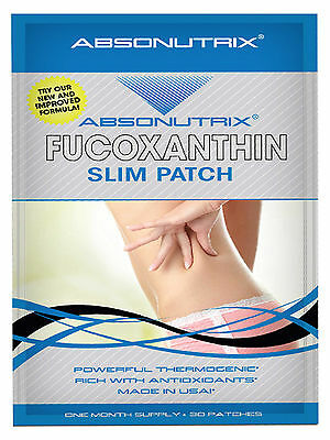 ABSONUTRIX FUCOXANTHIN XTREME FAT BURNER/ WEIGHT LOSS ~ 30 time release patches!