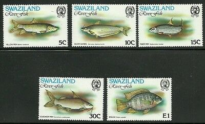 Album Treasures Swaziland Scott # 365-369 River Fish Mint NH
