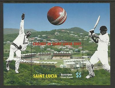 SAINT LUCIA 2007  ICC CRICKET WORLD CUP Souvenir Sheet FINE USED