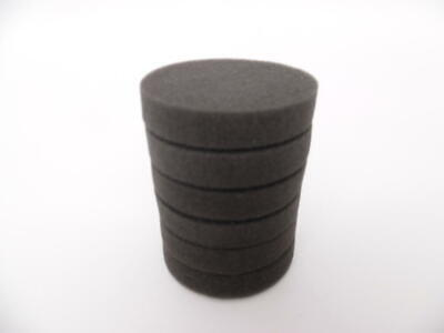 6 Pack of Black Buffing Polishing Pads for Disc Repair Machines fits RTI Eco
