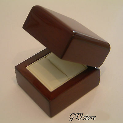 Oak Wood Wedding Ring Engagement Gift Box OAKR001 - FREE EXPRESS DELIVERY