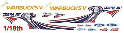 Daddy Warbuck's Cobra Jet Mustang NHRA - Drag 1/18th Scale Decals