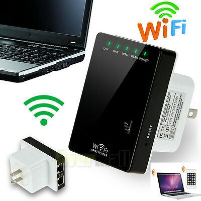 Wifi Signal Repeater Booster Wireless Cordless N G Network 300Mbps WPS