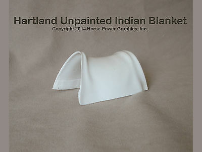 HARTLAND Steven Horse & Rider Unpainted Plastic INDIAN SADDLE BLANKET