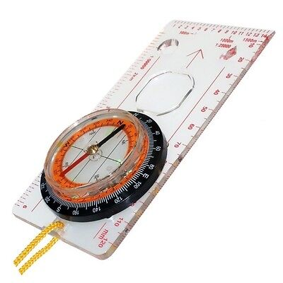 Hiking Orienteering Geocaching Compass Magnifier Navigation Scale Ruler Ry439
