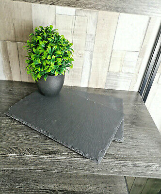 Set Of 2 Rectangle Natural Slate Tray Dinner Dining Kitchen Table Tea Placemats