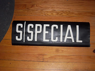 VINTAGE COLLECTIBLE NYC SUBWAY SPECIAL BMT IND MANHATTAN URBAN ART NY ROLL SIGN
