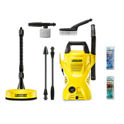 KARCHER K2-CAR-HOME-PACK Home and Car Pressure Washer 1400W in Yellow