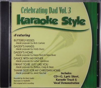 Celebrating Dad Volume 3 Christian Karaoke Style NEW CD+G Daywind 6 Songs