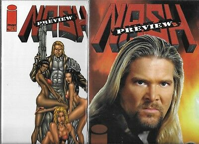 Nash #1 & Preview #1 Set Of Both Covers (Nm-) World Wrestling Federation