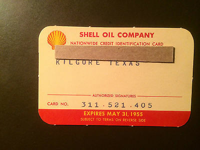 Shell Oil Company 1955 Vintage Collectors Credit Card