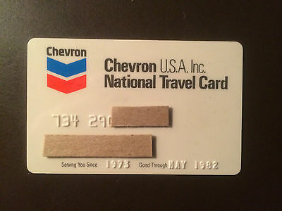 Chevron Oil Company 1982 Vintage Collectors Credit Card
