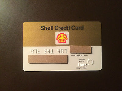 Shell Oil Company 1984 Vintage Collectors Credit Card