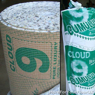 Cloud 9 Cumulus Carpet Underlay - 11mm Thick - 15 SqM