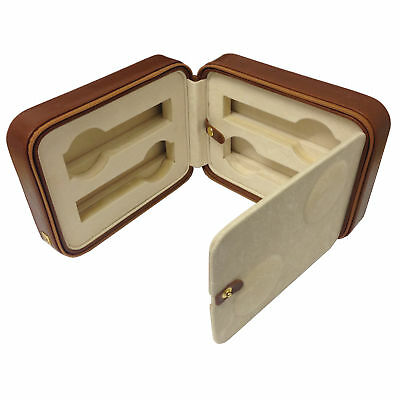 AB Collezioni Womens Mens Travel Leather Box Case Compartment for 4x Watches
