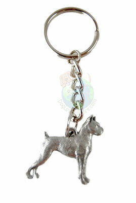 Boxer Keychain Fine Pewter Silver Key Chain Ring