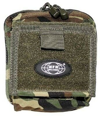 Borsa Documenti US Molle Outdoor Army Cartella Pouch Borsa Woodland Camouflage