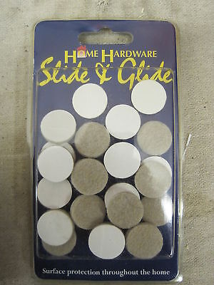 H/W FELT PADS adhesive 19mm diameter pack of 20