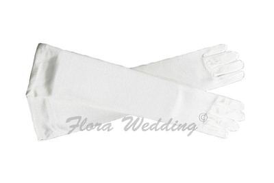 Girl's Satin Elbow Length Glove Communion/Christening/Confirmation/Pageant/Dance