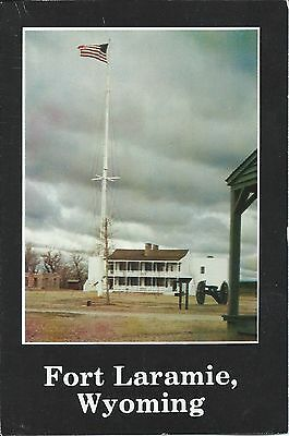 Postcard - Fort Laramie, Wyoming - Very Good Condition with Postmarks