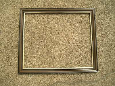 Antique Aesthetic Eastlake Victorian Black Brown Gold Gilt Picture Frame 18 x 22