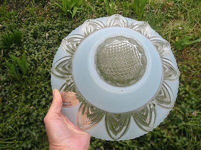 Antique Glass Ceiling Shade For Light Fixture Chandelier Clear w Blue