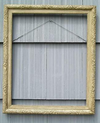 Antique Aesthetic Victorian Eastlake Large Floral Ornate Picture Frame 18 x 22