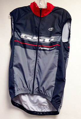 Team CYCLING Vest (Red/Black) Made in Italy by GSG