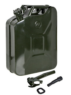 5 Gal 20L Metal Gasoline Gas Fuel Caddy Can Tank Emergency Backup Army Military