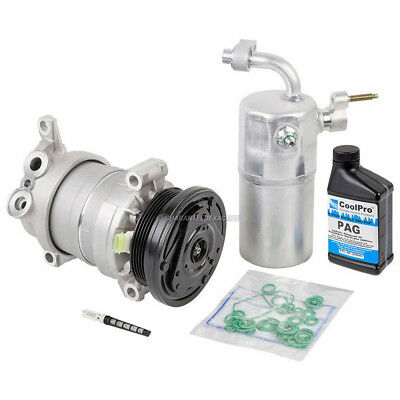 New AC Compressor & Clutch With Complete A/C Repair Kit Fits Chevy Silverado GMC