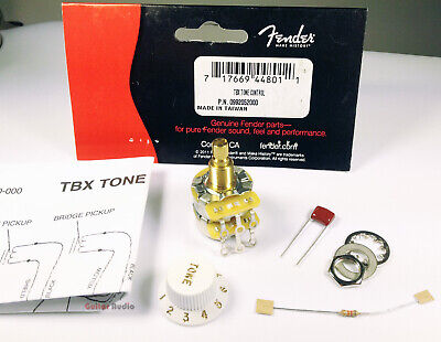 Genuine Fender TBX Tone Control 250K/1-Meg Stacked Pot/Potentiometer Kit