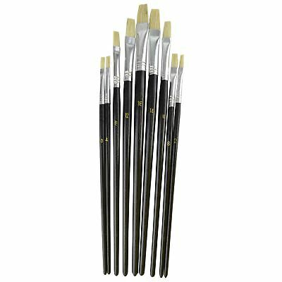 9pc Flat Artist Paint Brush / Model Making / Pictures / Washable TE730