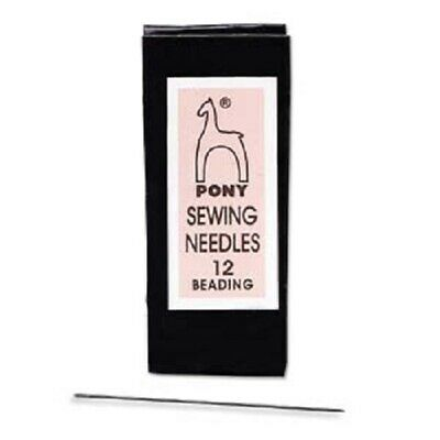 Twenty-Five Size 12 Pony Beading Needles