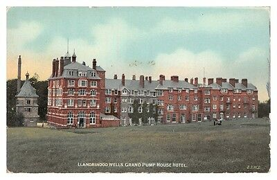 LLANDRINDOD WELLS - Grand Pump House Hotel - old postcard