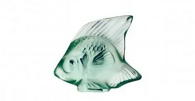 Lalique Crystal (Brand New) - Fish Figurine : Mint Green (Menthe) 3001900