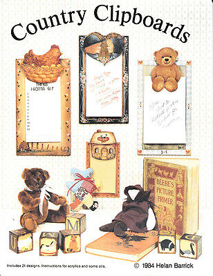 Helan Barrick : COUNTRY CLIPBOARDS Painting Book - OOPS!