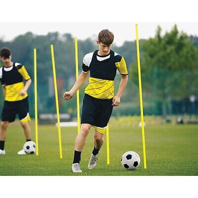 "AGILITY SLALOM TRAINING POLES (SET OF 10) 165cm (5'6"") SOCCER RUGBY FITNESS"