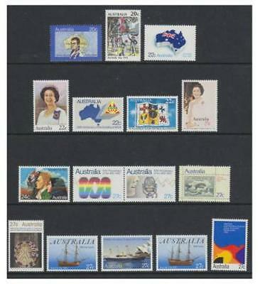 Australia - 1979/83 Small lot of 16 stamps - MNH