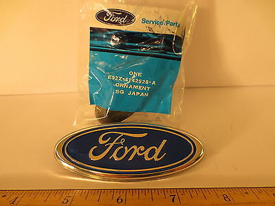 "ONE FORD 1989 PROBE BLUE OVAL ORNAMENT 3 1/2"" LG X 1 3/8"" HI NOS FREE SHIPPING"