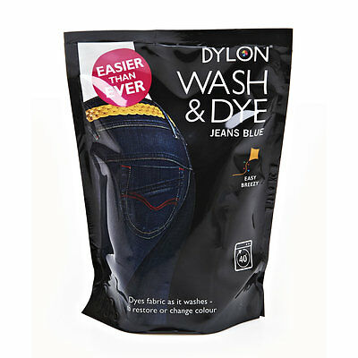 400g BLUE JEANS DENIM DYLON MACHINE WASH & DYE FABRIC COLOUR TEXTILE MATERIAL