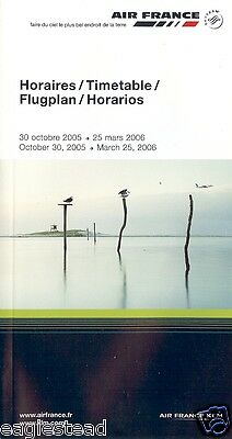 Airline Timetable - Air France - 30/10/05 - OW