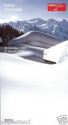 Airline Timetable - Swiss International Air Lines - 30/10/05