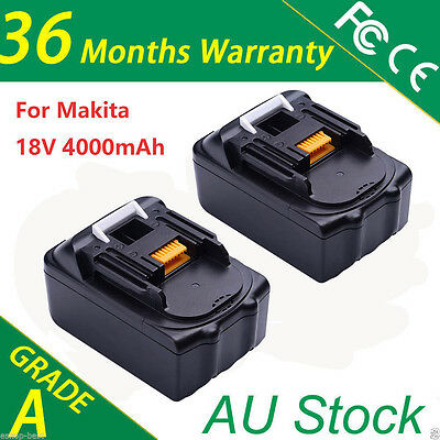 2pcs 18V 3.0Ah Battery for Makita BL1830 BL1815 LXT Li-Ion Cordless Heavy Duty