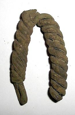 Ancient Viking, Bronze Neck Tork Fragment, Jewelry