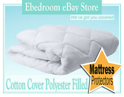 Mattress Protector Pure Cotton Cover Case- King Size