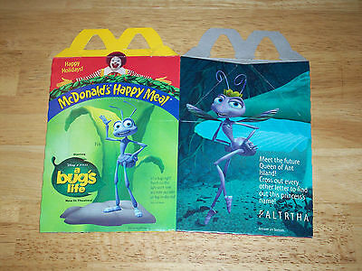 "Vintage McDonald's Disney-Pixar ""A Bug's Life"" Happy Meal Box 1998"