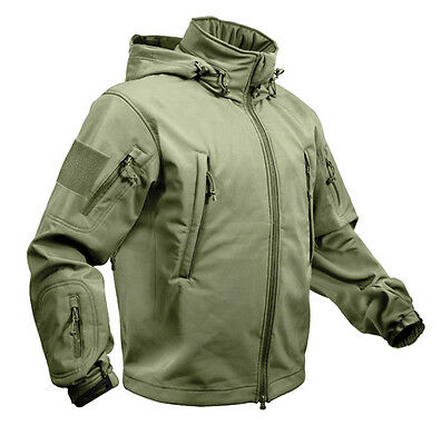 US Special SPEC OPS Army Chaqueta TACTICAL SOFT SHELL Verde Oliva L