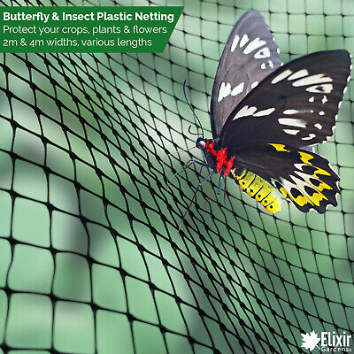 Butterfly / Insect Fruit Cage Net Vegetable Plant Protection Cover Plastic 2m 4m